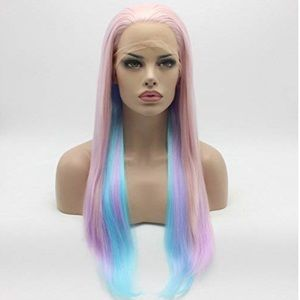 """💫24"""" PINK TRI OMBRÉ STRAIGHT LACE FRONT WIG *NEW*"""